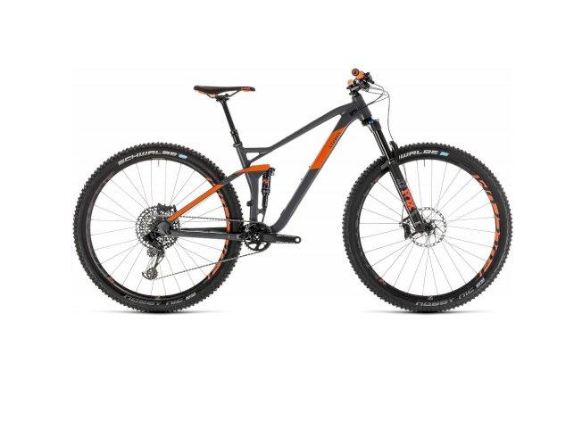 """Велосипед Cube Stereo 120 TM 29"""" (серый/оранжевый, 2019)"""