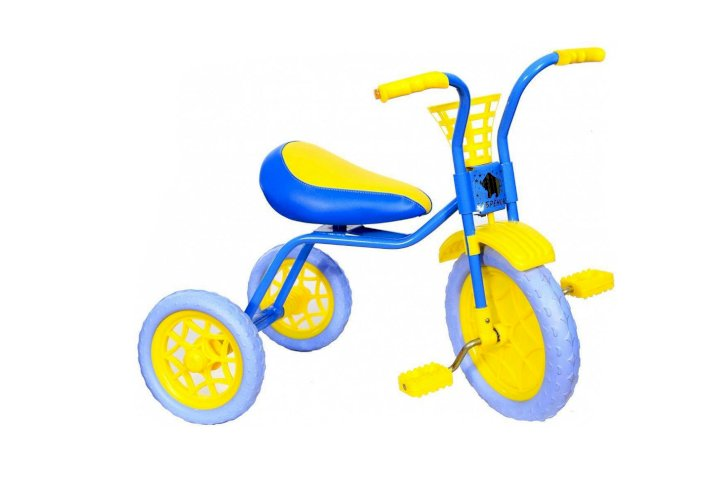 Велосипед Самокатыч Зубренок (голубой/желтый, 2019)