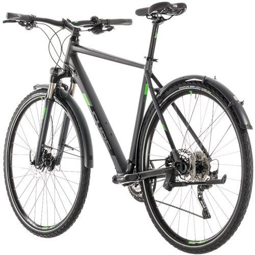"""Велосипед Cube Cross Allroad 28"""" (темно-серый/зеленый, 2019)"""