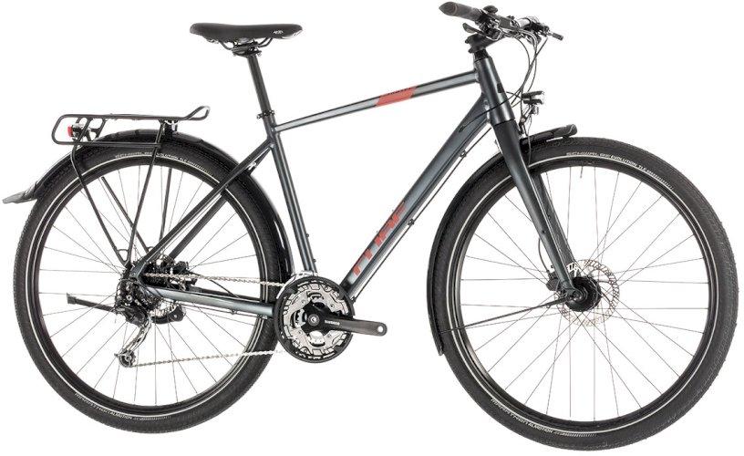 """Велосипед Cube Travel 29"""" (темно-серый/красный, 2019)"""