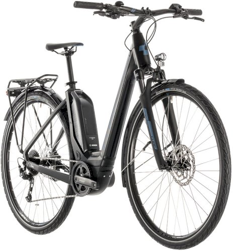 "Велосипед Cube Touring Hybrid One 400 Easy Entry 28"" (черный/синий, 2019)"